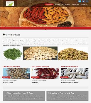 موقع شركة الجوهرة للتصدير